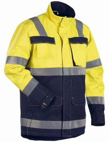 Blaklader 4468 Multinorm Winter Parka (Yellow/Navy Blue)